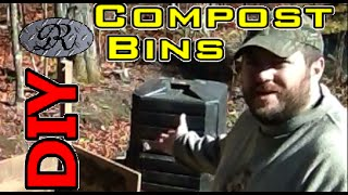 Diy Free Organic Homemade Compost / Mulch, Bin / Box / Pile Built From Recycled Materials.