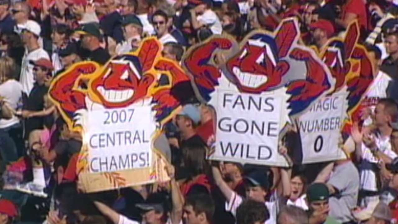 9789f310ad4 Indians clinch 2007 AL Central - YouTube