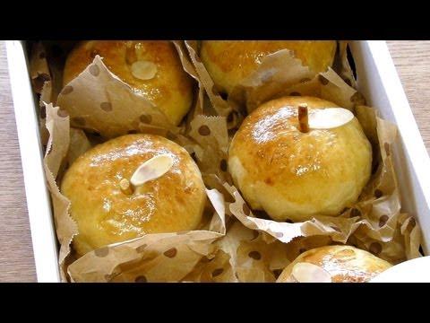 apple-shape-apple-bread-recipe-そのまんま-りんご-パン