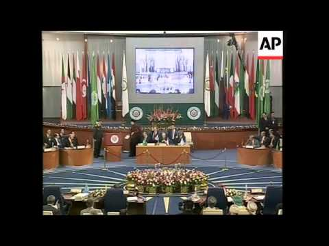 WRAP Second day of summit, includes Annan Gadhafi, Amr Moussa
