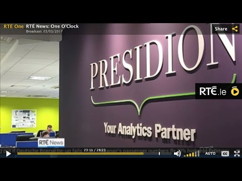 Presidion on RTE talking about how Brexit is affecting Irish Companies