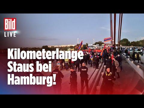 🔴 Autobahn-Demo bei Hamburg! Rund 200 Menschen blockierten Fahrbahn | BILD Live