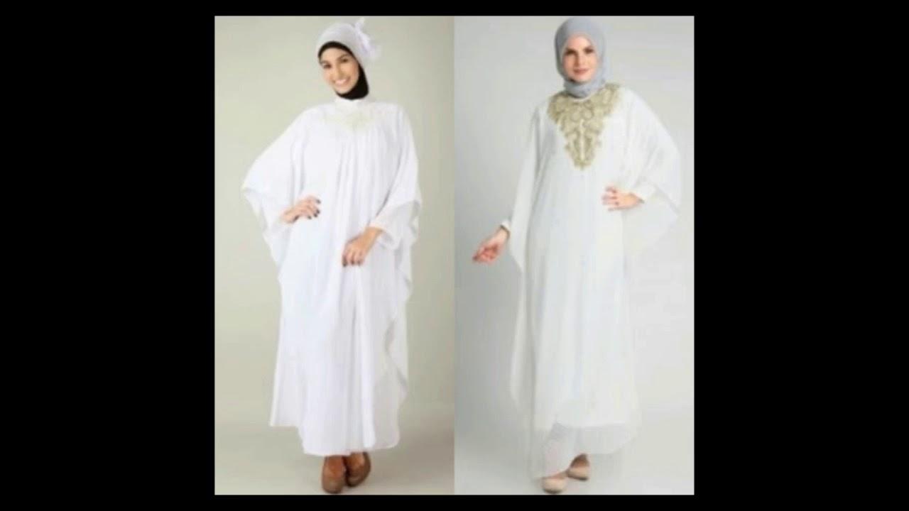 Model Baju Muslim Warna Putih Paling Modis Ditahun 2018 Youtube