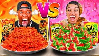 SPICY VS SWEET FOOD CHALLENGE