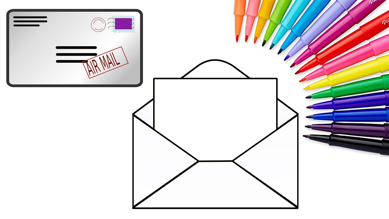 mail coloring pages - photo#37