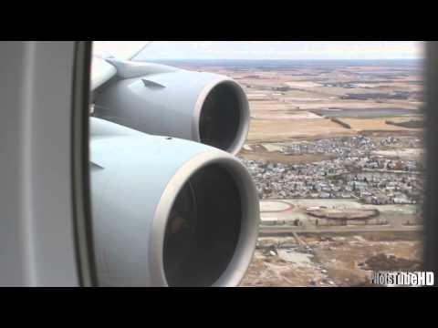 Lufthansa A380 EMERGENCY LANDING In Edmonton