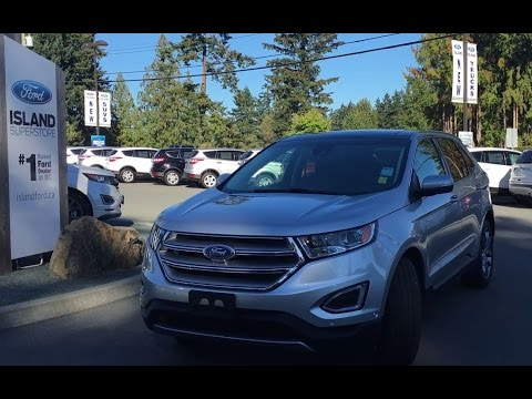 2016 Ford Edge Titanium W/ Nav & Front Camera Review | Island Ford