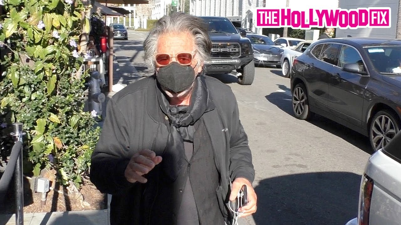 Al Pacino Aka 'Scarface' Finishes Up His Pasta Before Making A Dash At Il Pastaio In Beverly Hills