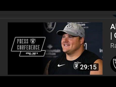 Las Vegas Raiders OTA's Press Conference. My Thoughts Joseph Armendariz - Vlog