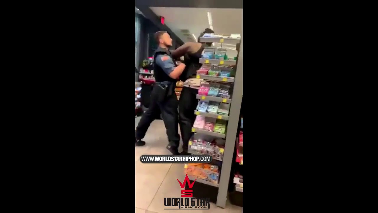 Fight Breaks Out Between Customer & Security Guard At A Tulsa Quiktrip!