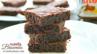 Nutella Brownies - 3 Ingredients