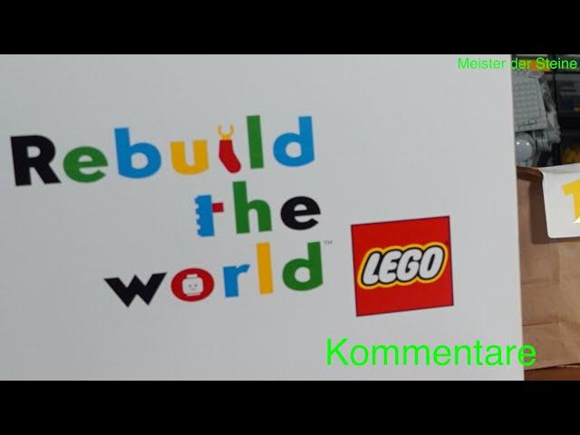 Verlosung, LEGO VLOG, Rebuild the world, Meister der Steine