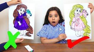 تحدي التلوين ب3 الوان !! لونت روبانزل و عنكبوت !! 3 Marker Challenge !! rapunzel & spider