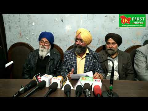 Today Members of Sikh Action Committee Jammu and Kashmir Addressing a Press Conference at Press Club
