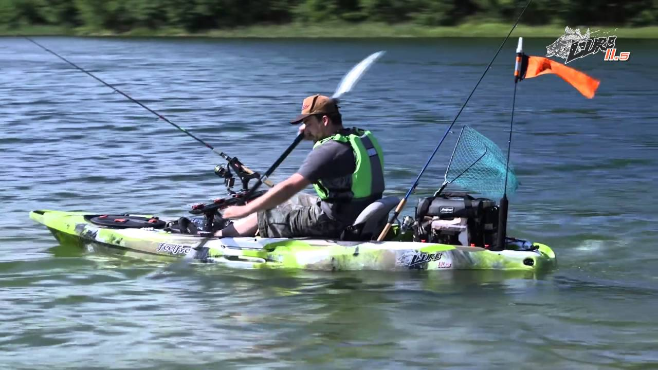 Feelfree lure 11 5 fishing kayak overview youtube for Feelfree lure 11 5 with trolling motor