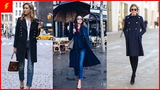 How to Wear Navy Blue Coats