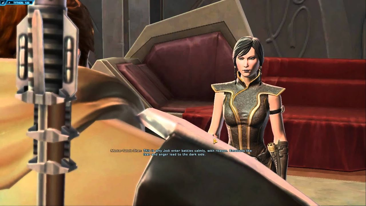 Master Satele Shan Star Wars The Old Republic Tor Youtube