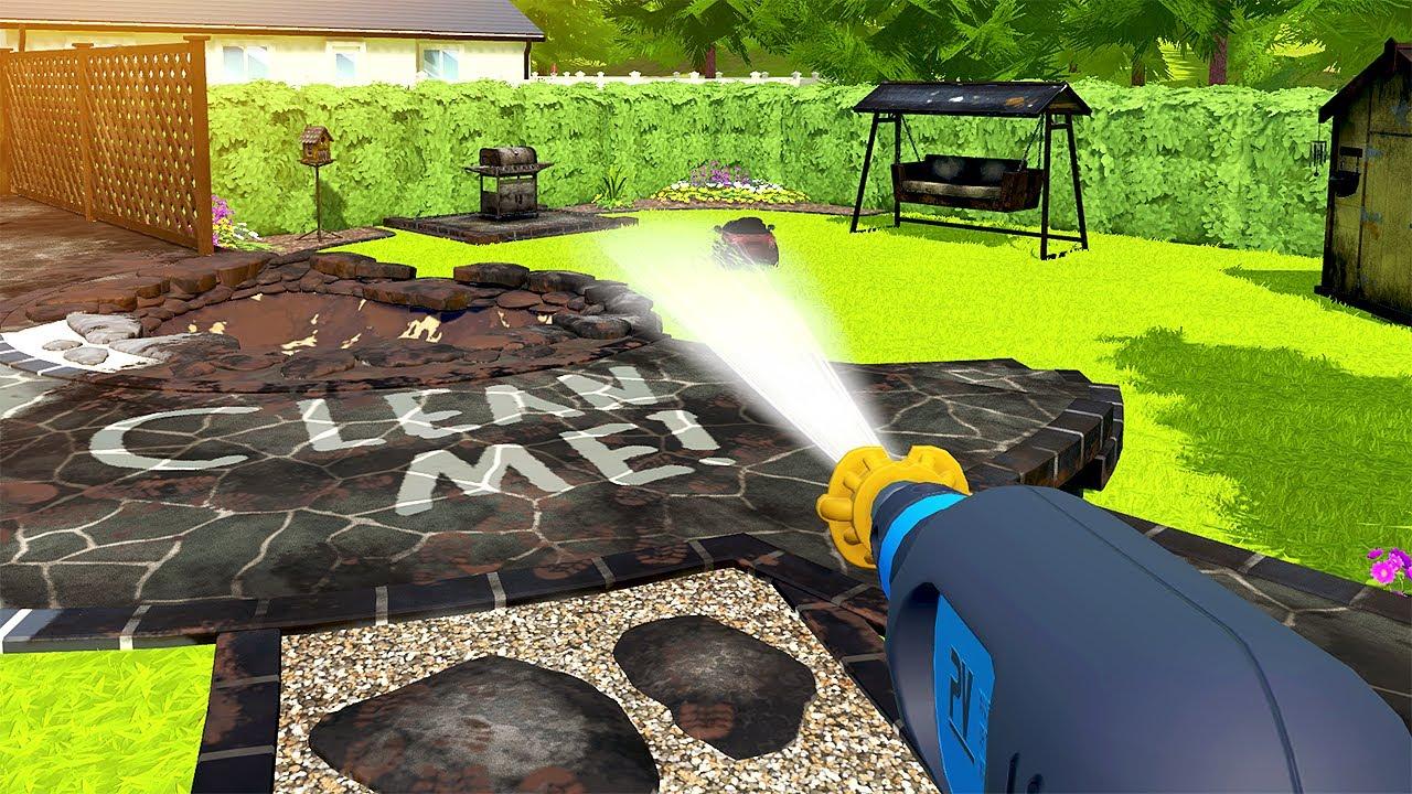 DISGUSTING Garden Gets Satisfying Clean - PowerWash Simulator Gameplay