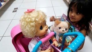 Baby Alive Dia das Crianças Clarabela e Bia Lobo Abrindo seus Presentes
