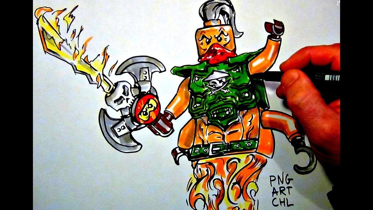 how to draw ninjago nadakhan lego