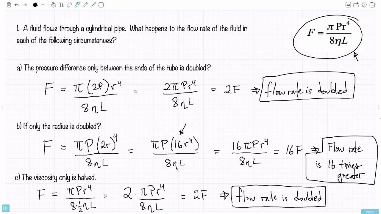 Hagen Poiseuille Equation Derivation Pdf