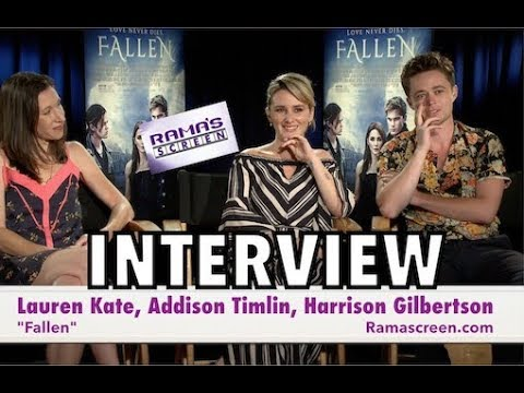 My 'FALLEN'  with Lauren Kate, Addison Timlin, and Harrison Gilbertson
