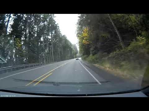 Highway 101 Olympic peninsula Washington fall drive – Port Whitney to Olympia. sped up 10x