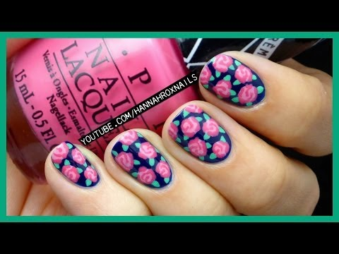 Easy Rose Print Nail Art (with just a toothpick!)