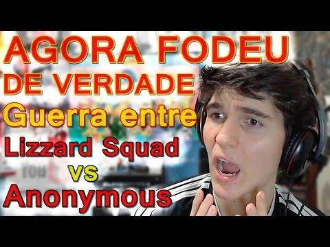 VIROU GUERRA !! Guerra entre Anonymous vs Lizzard Squad [Hackers] Corremos sério perigo