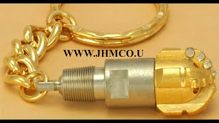 Drill Bit Keychain Keyring JHM#124 Oilfield Oil & Gas Gift