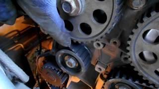 2112 оборвало ремень грм,установка нового и натяжка ремня ремня самодельным приспособлением