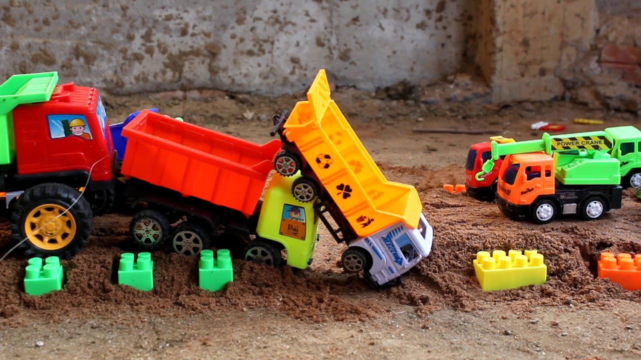 How To Fix The Road Kid Plays Cars Toys Excavator Dump