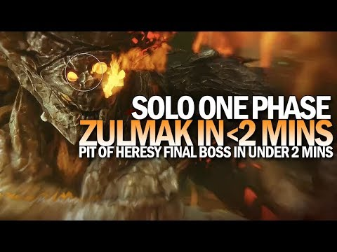Solo One Phase Zulmak In Under 2 Minutes (Pit Of Heresy Final Boss)