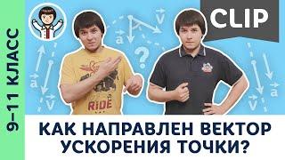 Как направлено ускорение точки?   Кинематика, олимпиадная физика, ЕГЭ, ОГЭ, Пенкин   9, 10, 11 класс