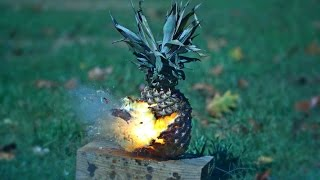 Blowing Up Fruit and Vegetables at 25,000FPS