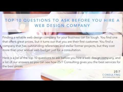 Top 10 Questions to Ask Before You Hire a Web Design Company