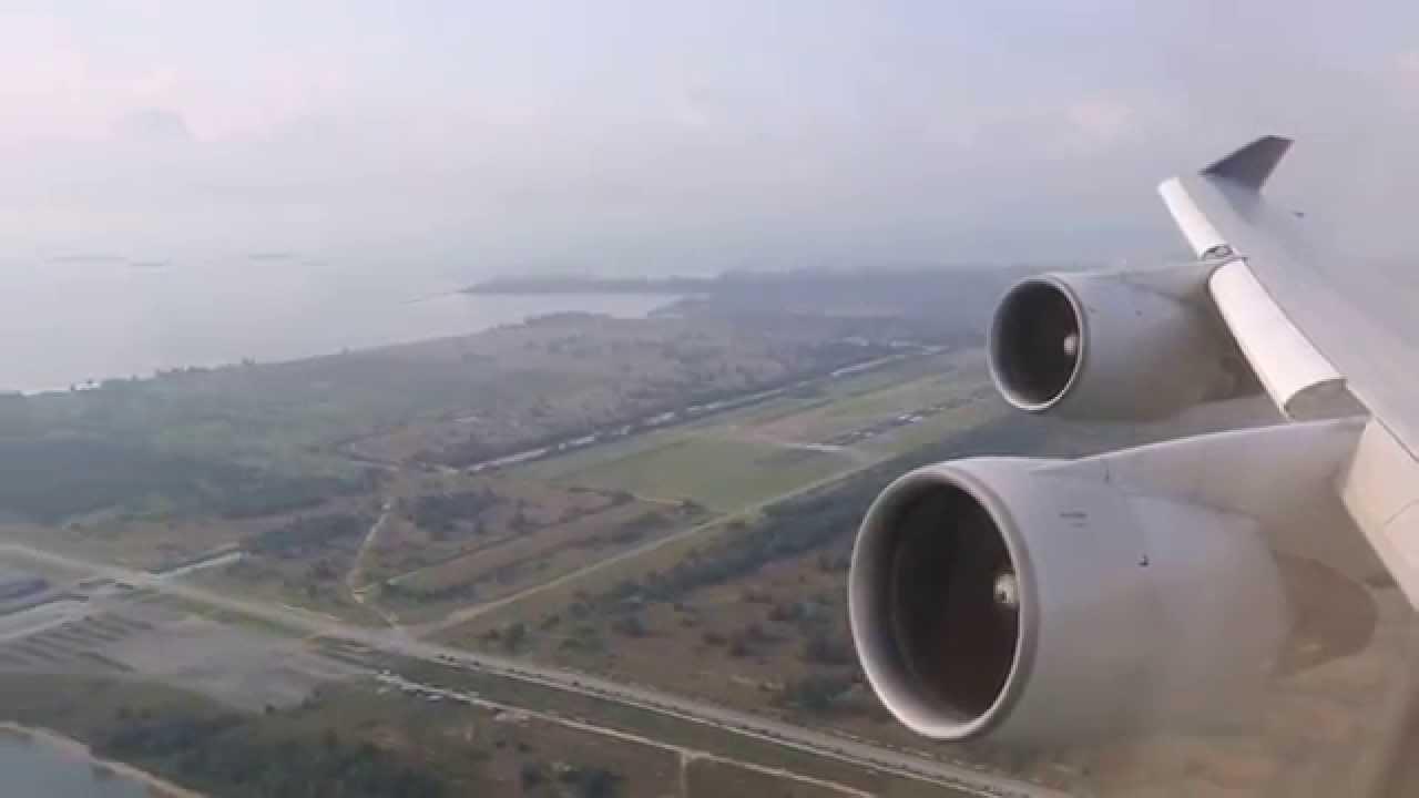 takeoff speed SQ747 to japan