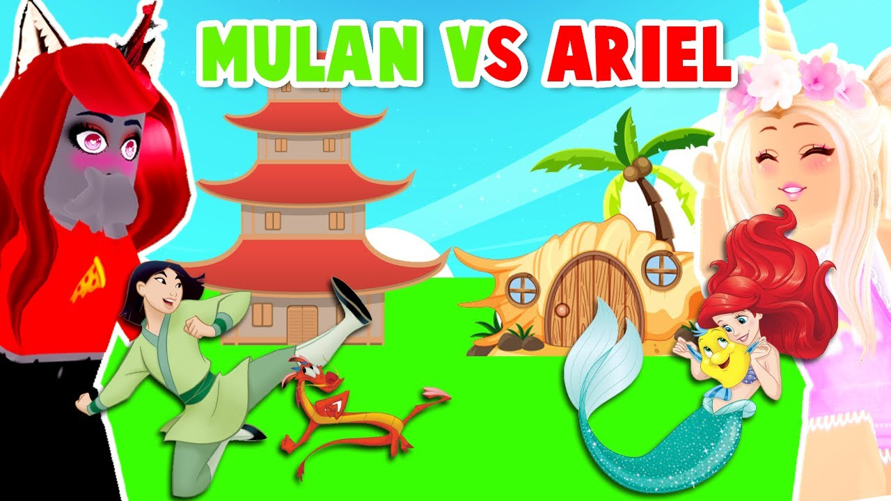Download Mulan Vs Ariel Building Challenge With My Best Friend In Adopt Me! (Roblox)