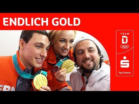 Goldfeier von Aljona Savchenko und Bruno Massot im deutschen Haus | Team Deutschland