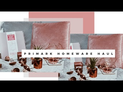 PRIMARK SPRING HOMEWARE DECOR HAUL | APRIL 2017 - SARAH WORE WHAT