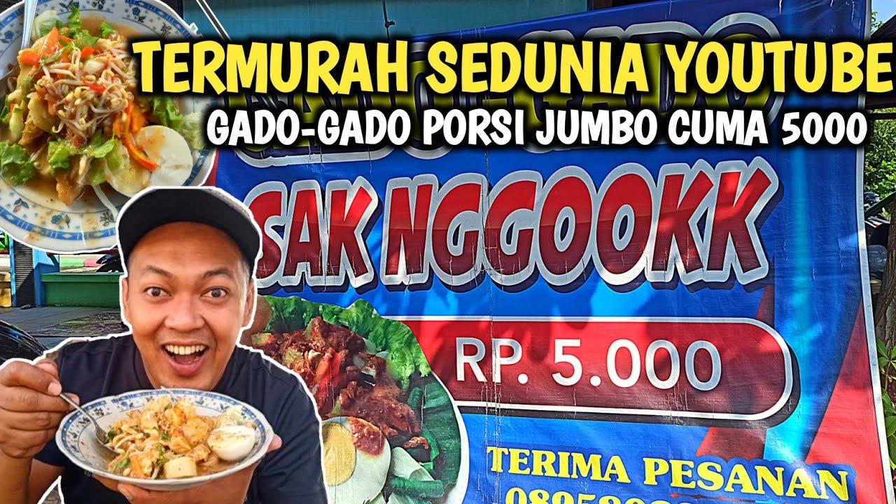 MURAH KEBANGETEN!! GADO-GADO SAK NGOOK CUMA 5000 RUPIAH - Indonesia Street Food