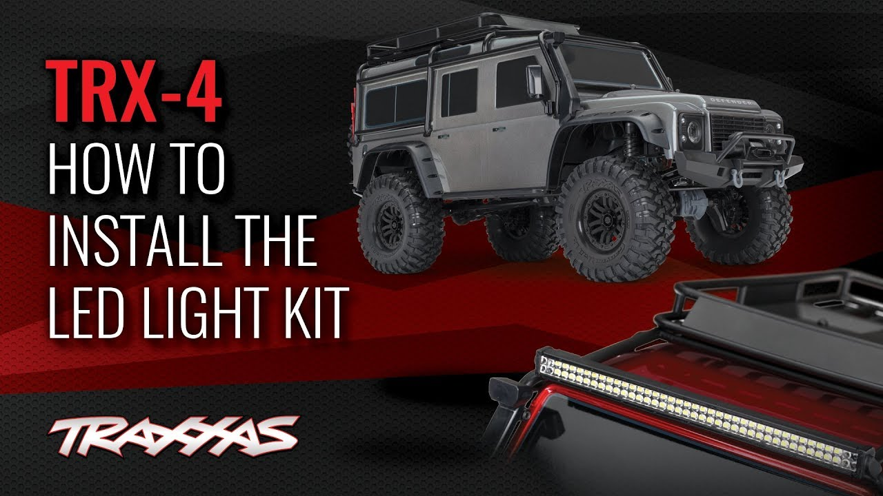 how to install the led light kit trx 4 land rover defender [ 1280 x 720 Pixel ]