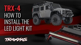 How to Install the LED Light Kit | TRX-4 Land Rover Defender