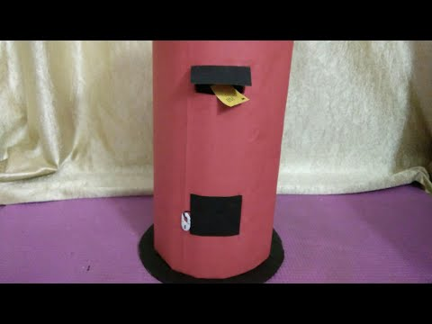 #How to make letterbox model from cardboard