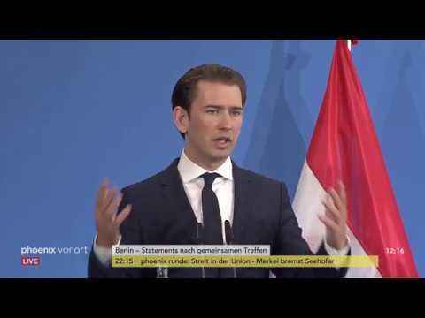Pressekonferenz von Horst Seehofer und Sebastian Kurz am 13.06.18