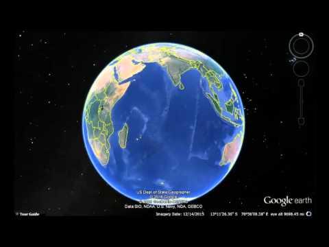 Mauritius Google Earth View