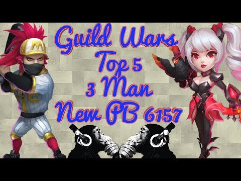 Guild Wars | Top 5 | 3 Heroes | New PB | Castle Clash