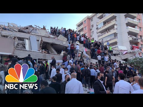 Earthquake Off Coast Of Turkey, Greece Causes Tsunami, Collapsed Buildings | NBC News NOW