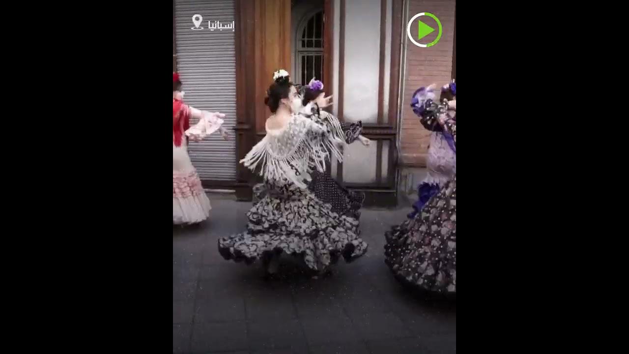 راقصو الفلامينكو يحتلون شوارع إسبانيا  - نشر قبل 2 ساعة
