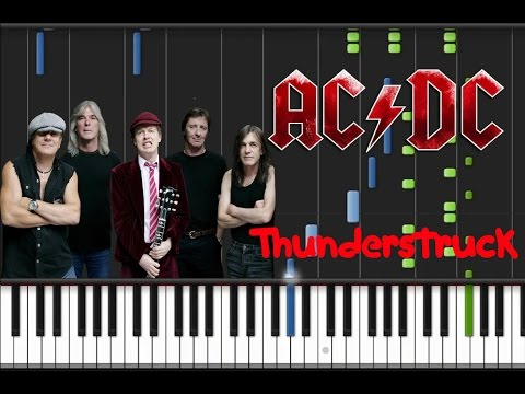 AC/DC - Thunderstruck [Synthesia Tutorial]